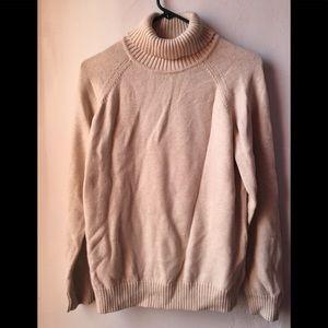 Jeanne Pierre creme color turtleneck sweater